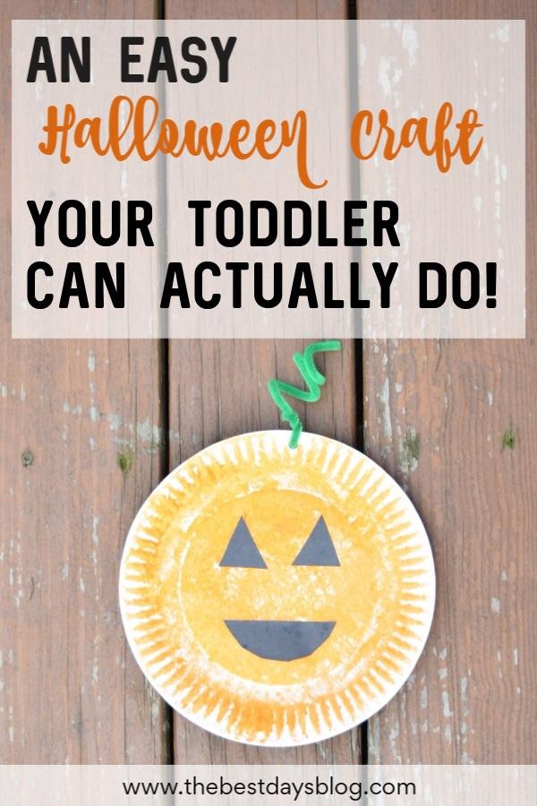 An Easy Halloween Craft Your Toddler Can Actually Do