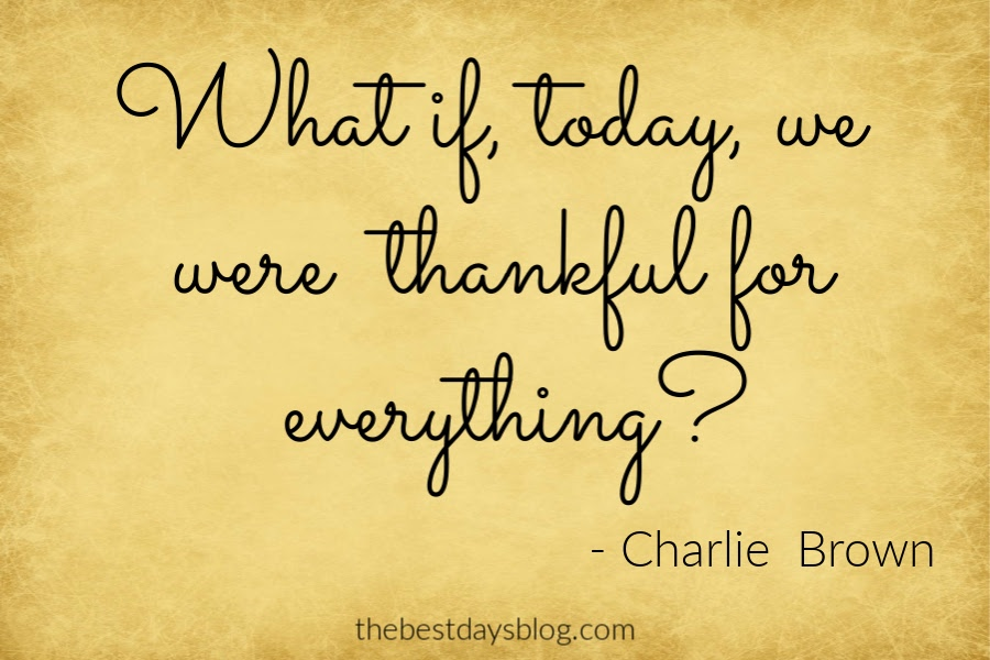 thanksgiving quote about being thankful