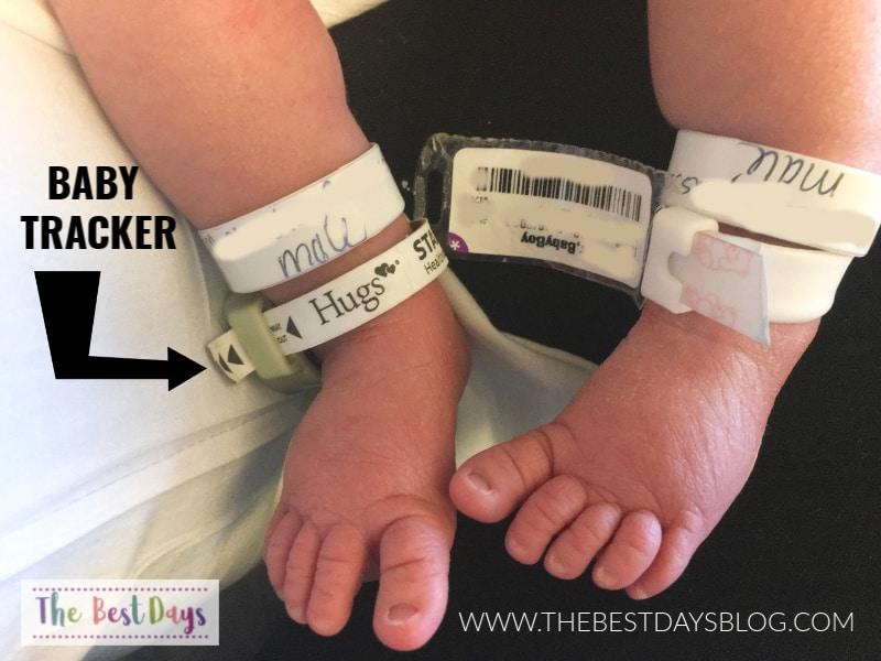 feet of newborn baby in hospital