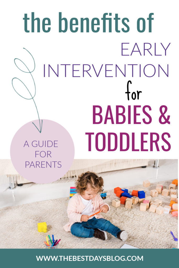 pin image for the benefits of early intervention for babies and toddlers