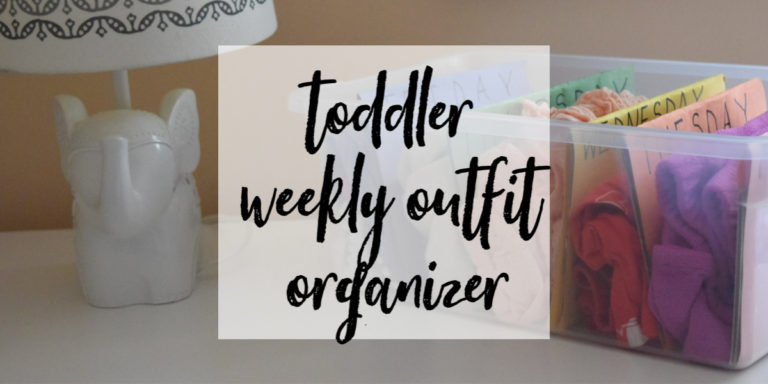 Weekly Outfit Organizer for Toddlers
