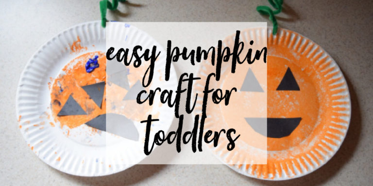 Easy Paper Plate Pumpkin Craft for Toddlers