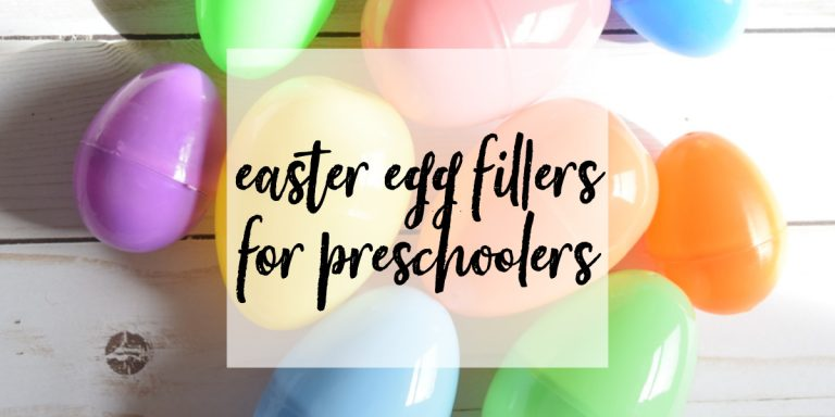 Non-Candy Easter Egg Fillers for Preschoolers
