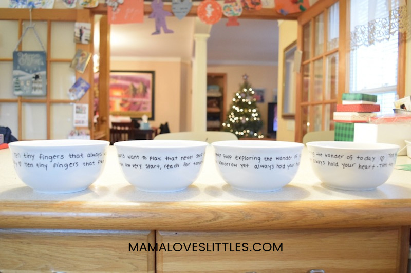 decorated ceramic bowls for gifts