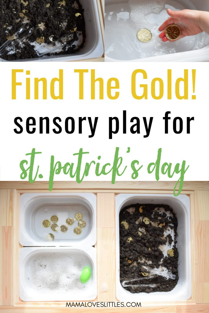 Find the Gold! Sensory play for St. Patrick's Day