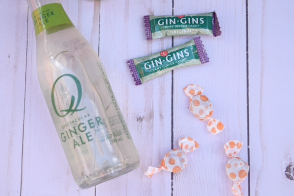 ginger ale and ginger candies for morning sickness