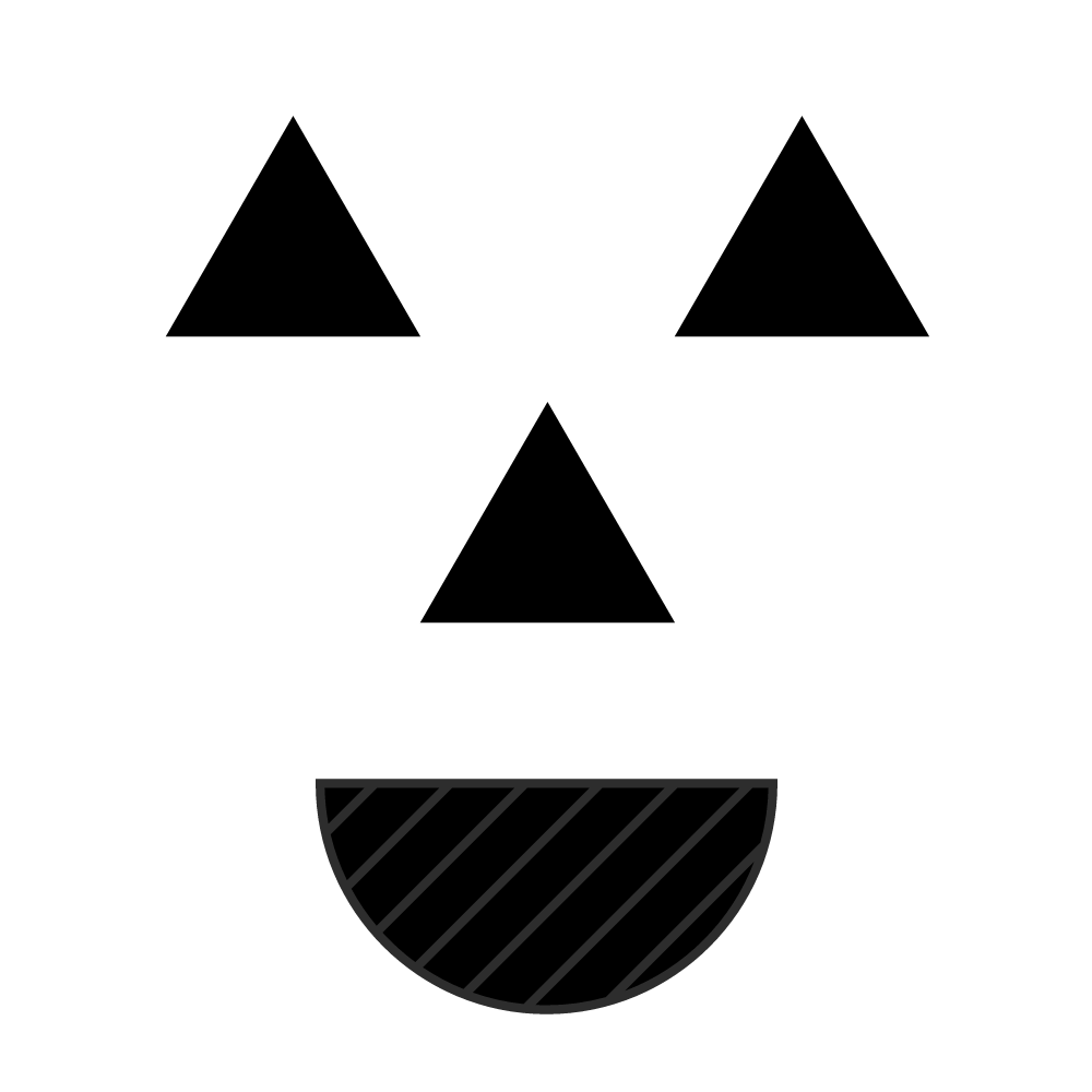 black shapes to use as face for pumpkin craft